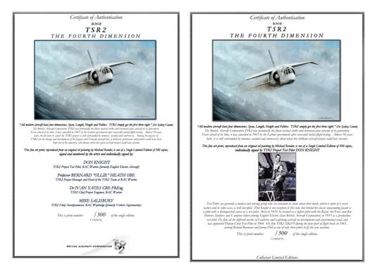 TSR2 Certificates