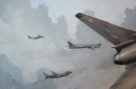 Typhoon painting detail