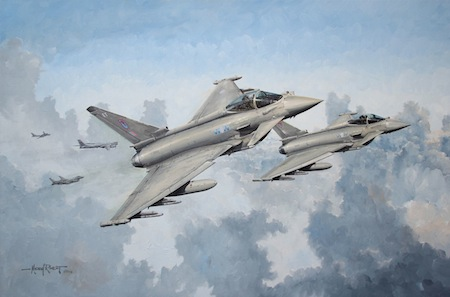 Typhoon painting Tu-95 QRA intercept